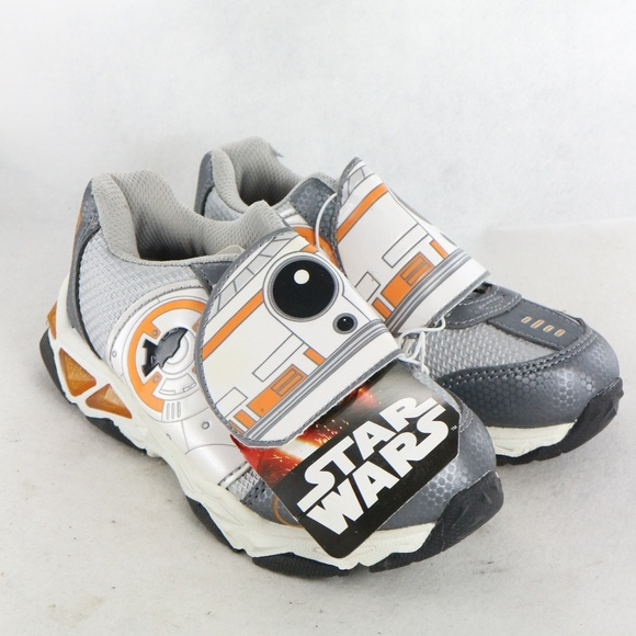 Star Wars Sneakers >> Star Wars Bb 8 Bolter Velcro Strap Sneakers Nwt